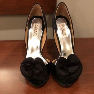 Badgley Mischka Randall satin heels